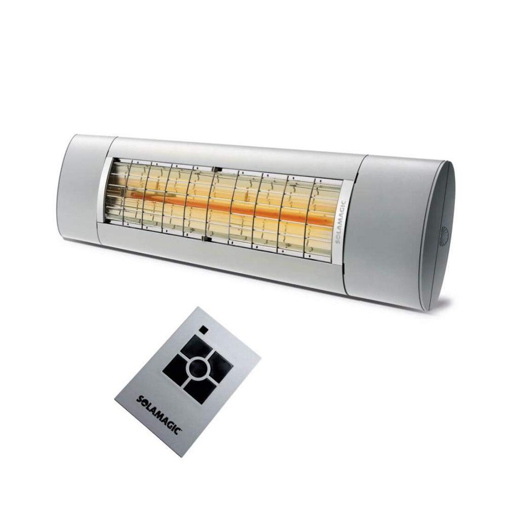 valoa tuottamaton lasiterassilämmitin kaukosäätimellä ja tehonsäädöllä