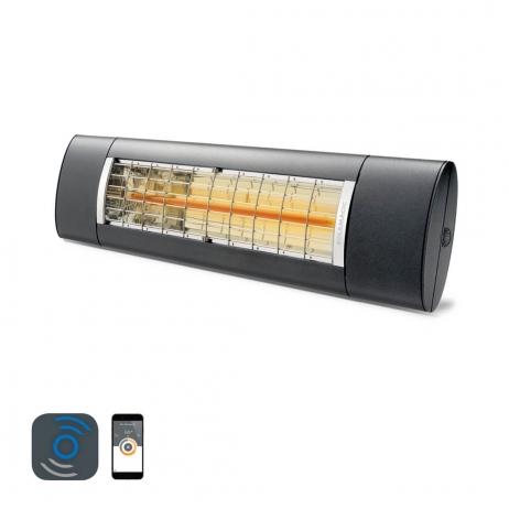 valoa tuottamaton lasiterassilämmitin bluetooth ohjauksella