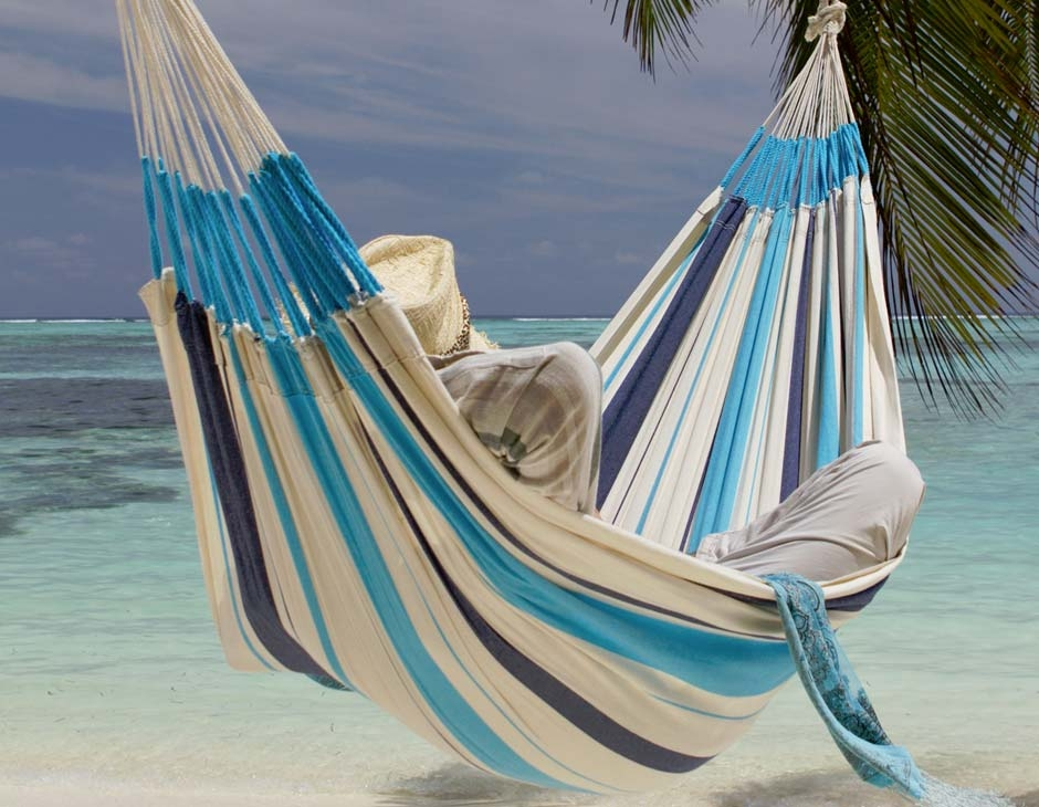 La Siesta Caribena Riippumatto single aqua blue
