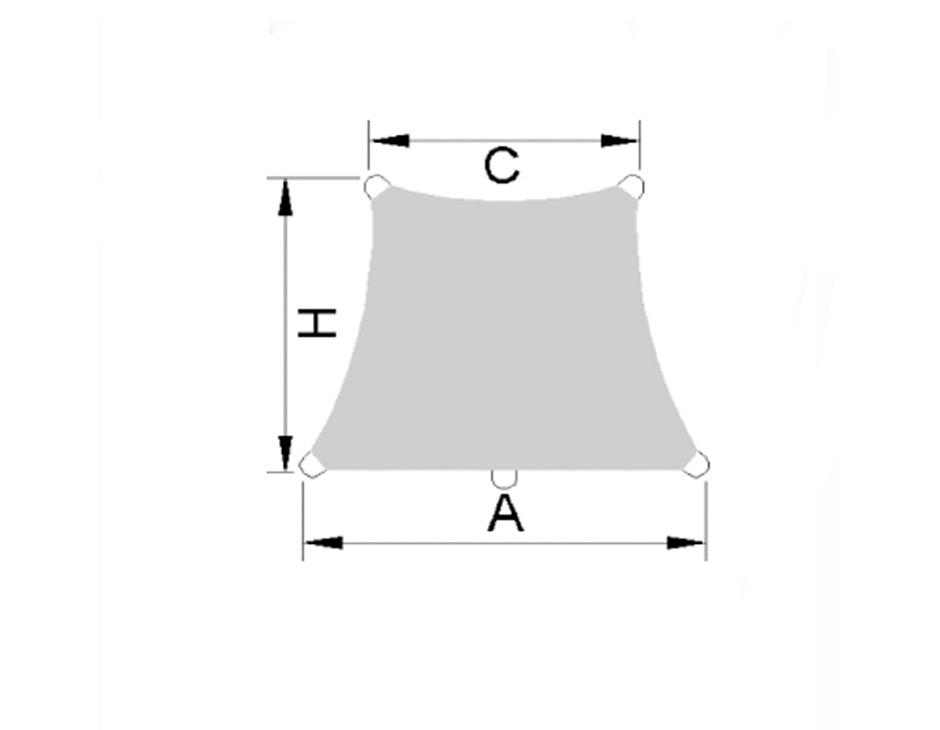 Caravita NET Aurinkopurje trapezoid seinäkiinnityksellä