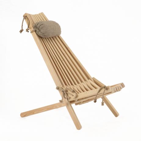 EcoFurn Ekosetti lehtikuusi 1 tuoli ja 1 sivupöytä/rahi