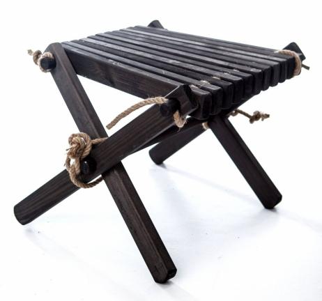 EcoFurn Lilly sivupöytä/rahi mänty musta