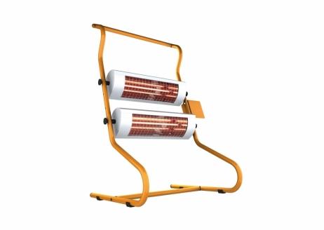 Työmaalämmitin Solamagic 2x1400 ECO+ PRO katkaisijalla titaani/oranssi
