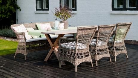 Sika-Design Colonial tiikkipöytä