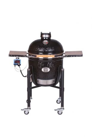 Keraaminen hiiligrilli Monolith CLASSIC BBQ Guru Edition PRO-SERIES 2.0 musta