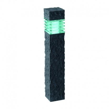 Kolossos Pylväsvalaisin LED kiviefekti antrasiitti