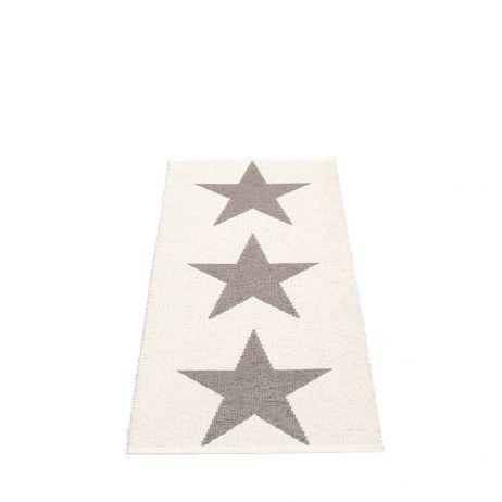 Pappelina Viggo Star muovimatto mud metallic-vanilla