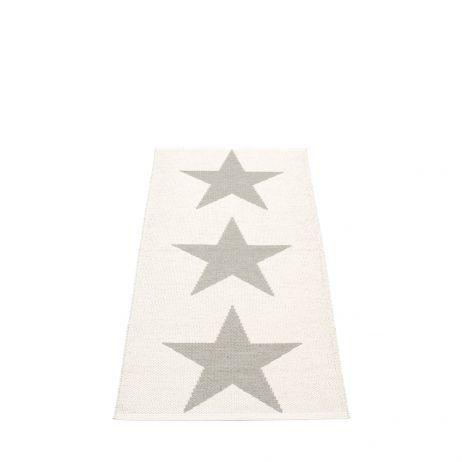 Pappelina Viggo Star muovimatto stone metallic-vanilla