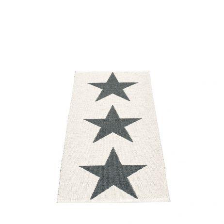 Pappelina Viggo Star muovimatto black metallic-vanilla
