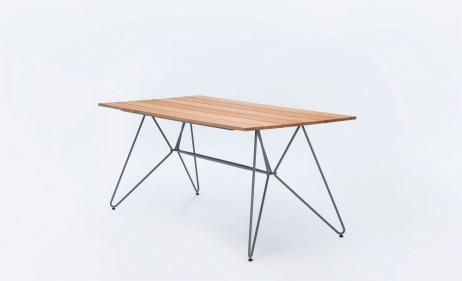 Terassipöytä Sketch 160x88 cm bambutasolla