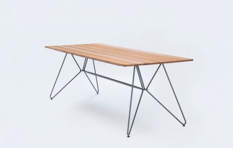 Terassipöytä Sketch 220x88 cm bambutasolla