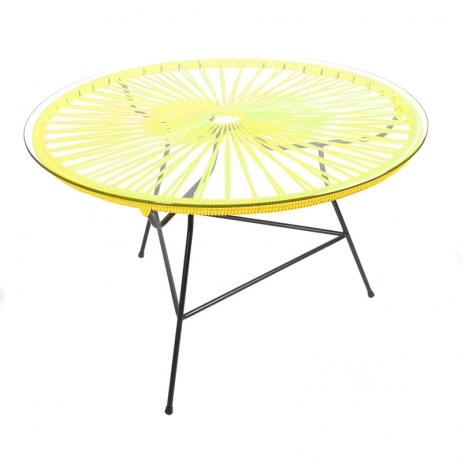 Zipolite kahvipöytä keltainen